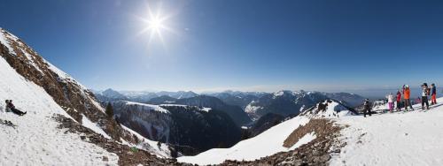 Panoramique sur les Alpes